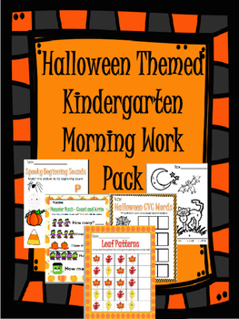 Halloween Themed Kindergarten Morning Work