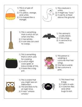 Halloween Themed Language Activities for Preschool/Kindergarten