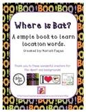 Halloween Themed-Location Word Book