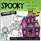 Halloween Themed Main Idea and Supporting Details Reading Activity