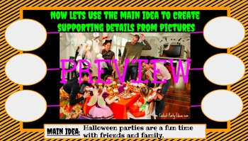 Halloween Themed Main Idea and Topic Google Slide