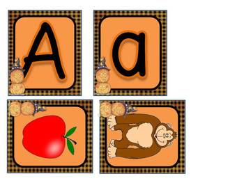 Halloween Themed Matching Letters and Picture Card Match