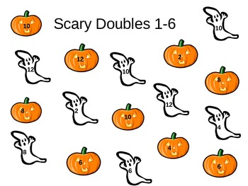 Halloween Themed Math: Addition Facts Doubles