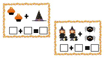 Halloween Theme Math centers