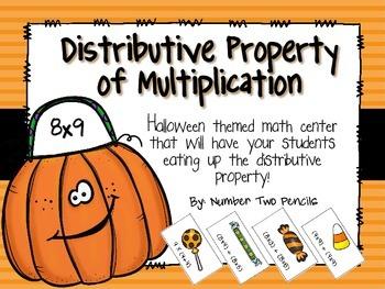 Halloween Themed Math Center: Distributive Property of Multiplication