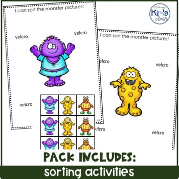 October / Halloween Themed Math Centers for ECE- Kinder or Special Needs