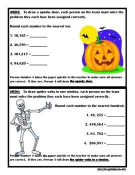 Halloween-Themed Math Relay