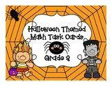 Halloween Themed Math Task Cards / Scavenger Hunt