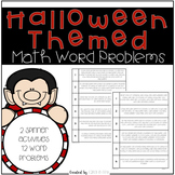 Halloween Themed Math Word Problems Spinners