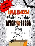 *English & Spanish* Halloween Themed Multi-Syllabic Trick-or-Treat Bag