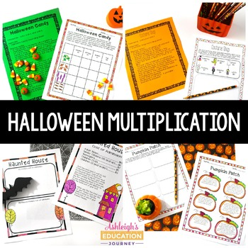 Halloween Multiplication Activities - 3rd Grade