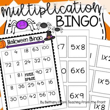 Multiplication Bingo   Halloween Themed
