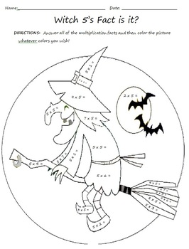 Halloween Themed Multiplication Worksheets