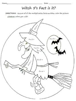 Halloween Themed Multiplication Worksheets