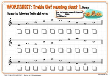 Halloween Themed Music 130 Worksheet Pack