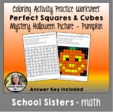 Halloween-Themed Mystery Picture for Perfect Squares and Cubes
