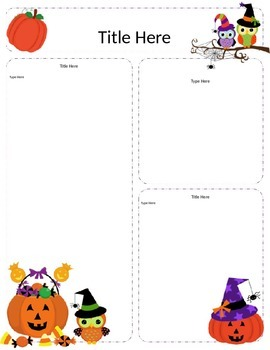 Halloween Themed Newsletter Template
