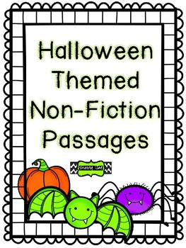 Halloween Themed Non-Fiction Reading Passages
