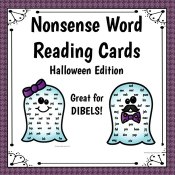 Halloween Themed Nonsense Word Reading Cards