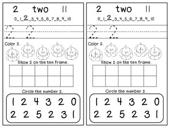 Halloween Themed Number Book 0-5