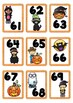 Halloween Themed Number Cards 1-100