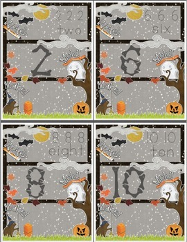 Halloween-Themed Number Recognition 0-10 Math Center - Write, Mold, Make!