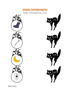 Halloween Themed -OO Words Activity Packet