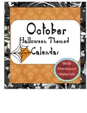 October Calendar - Shamelessly, yet tasteful,  Halloween!