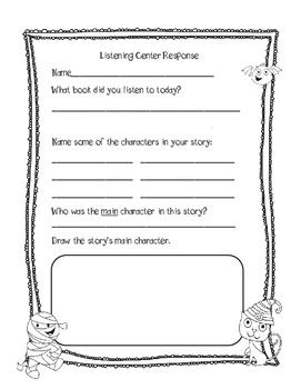 Halloween Themed- October Listening Center Response Sheets