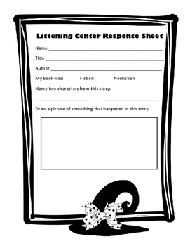 Halloween Themed- October Listening Center Response Sheets