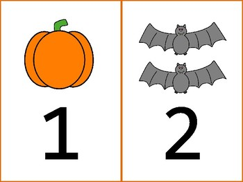 Halloween Themed - One to One Correspondence Cards