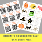Halloween Themed Open Ended QR Code Game - For All Subject Areas