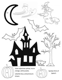 Halloween Themed Parts of Speech Coloring Page