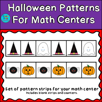 Halloween Themed Patterns for Math Centers