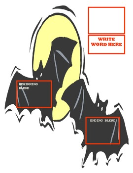 Halloween Themed Phonics Learning Center Bats for Phonics
