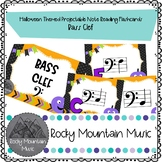 Halloween Themed Digital Note Identification Flash Cards Bass Clef