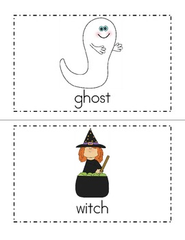 Halloween Themed Read and Write the Room