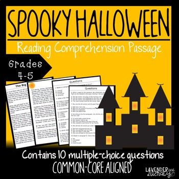 Halloween Themed Reading Comprehension Passage