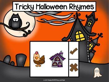 Halloween Themed Rhyming Activities For GOOGLE CLASSROOM