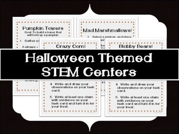 Halloween Themed STEM Centers