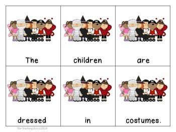 Halloween Themed Scrambled Sentences