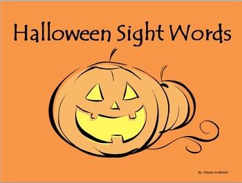 Halloween Themed Sight Words