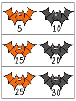 Halloween Themed Skip Counting by 2's, 5's, 10's to 120
