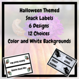 Halloween Themed Snack Labels
