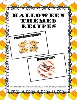 Halloween Themed Snack Task Boards