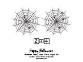 Halloween-Themed (Spiders) Greater Than, Less Than, and Equal To.