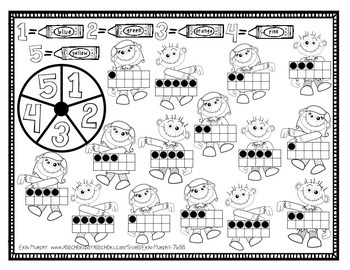 Halloween-Themed Spinner Games for Math Rotations