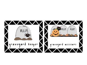 Halloween Themed  Spooky Jobs in Graveyard: