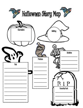 Halloween Themed Story Map for Story Elements