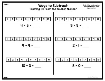 Halloween Themed Strategies for Subtraction Practice Sheets